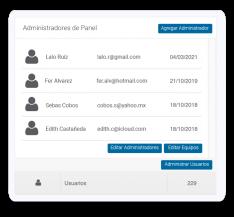 Agrega administradores generales y por equipos de trabajo para configurar los flujos en procesos de auditorías de cualquier tipo.