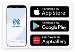 Your team downloads BeepQuest Mobile and accesses its unique operating instance (Play Store, App Store, App Gallery) with its user.
